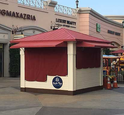 Business Kiosk in a Mall built by SoCal Carpentry