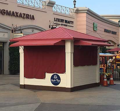 Custom kiosk by SoCal Carpentry